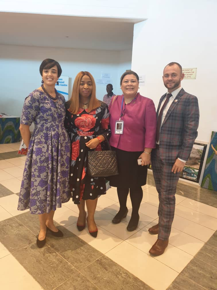 Louise Twinning-Ward of World Bank Group; Ogechi Adeola, Lagos Business School; Nayda L. Almodóvar-Reteguis, World Bank Group and Ben Owen of UNWTO