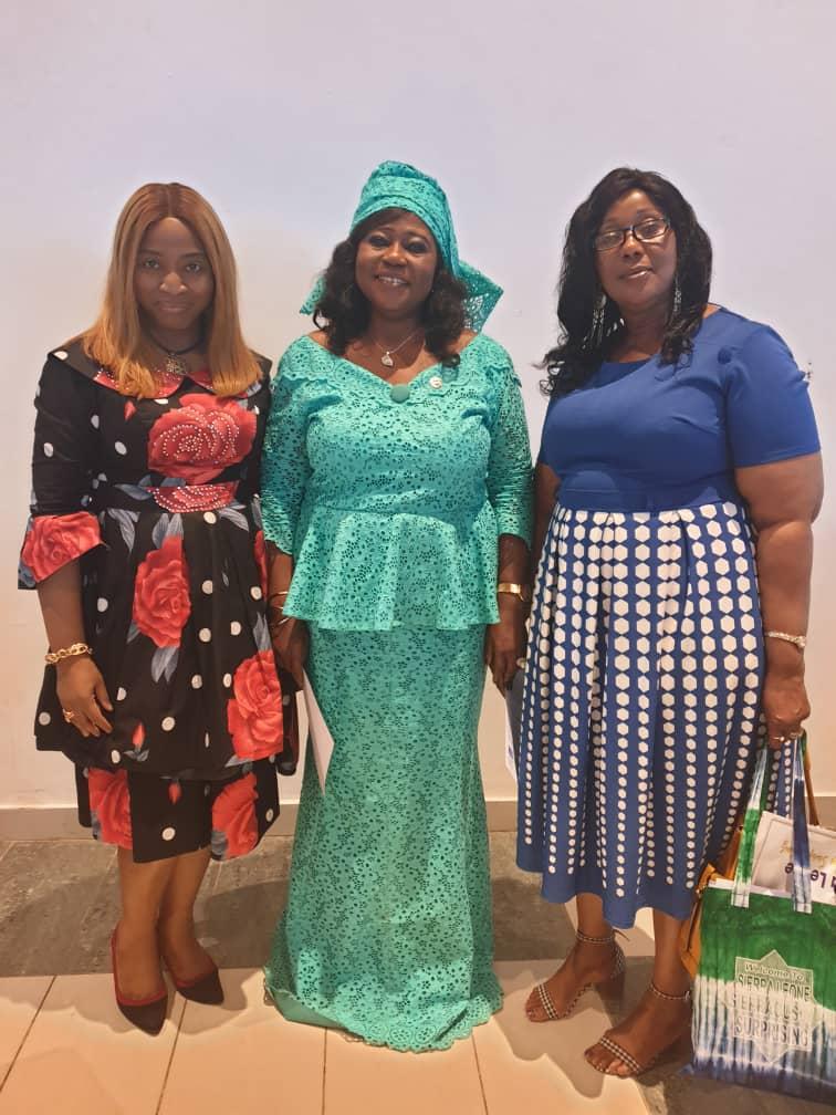 Dr Ogechi Adeola of the Lagos Business School with Minister of Tourism and Cultural Affairs, Sierra Leone, Hon Memunatu Pratt and Minister of Social Welfare, Sierra Leone, Hon Baindu Dassama.