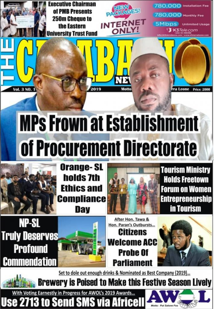 Front page news headlines featuring the Freetown Forum on Women's Entrepreneurship in Tourism